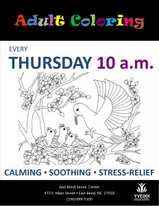 Adult Coloring FLyer